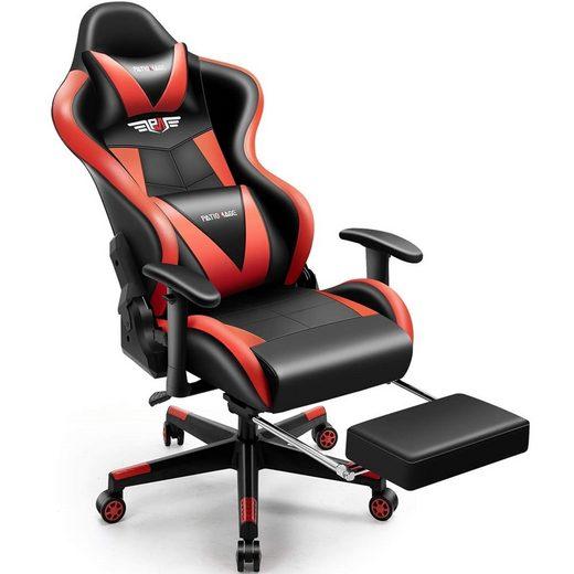 Mucola Gaming Chair »Gamingstuhl + Fußablage Bürostuhl Racing Stuhl Schreibtischstuhl Chefsessel Schalensitz Gaming Stuhl Sportsitz PC Chair Schreibtischstuhl«