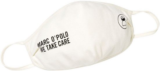 Marc O'Polo Mund-Nasen-Maske »We take care«, mit Statement und Motiv Print