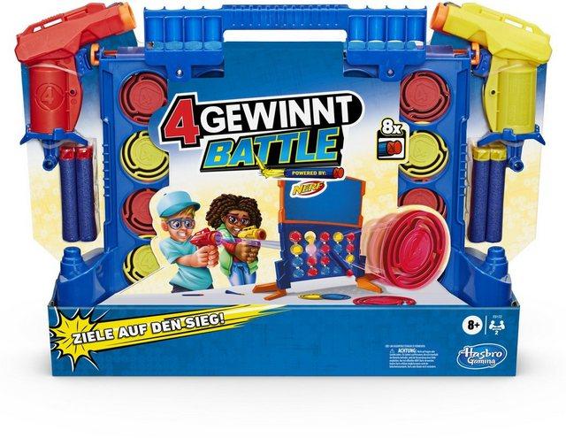 Image of 4 gewinnt Battle Spiel, powered by Nerf, enthält Nerf Blaster und Nerf Darts, Spiel Kinder ab 8 Jahren Kinder