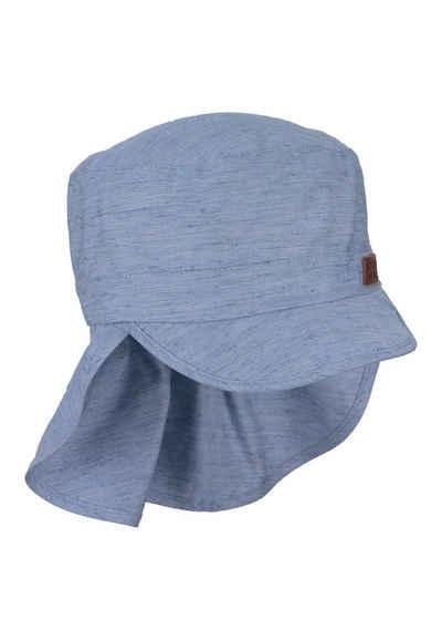 Sterntaler® Schirmmütze »Schirmmütze mit Nackenschutz« (1-St) mit Bio-Baumwolle; mit Nackenschutz; gefüttert mit Batist