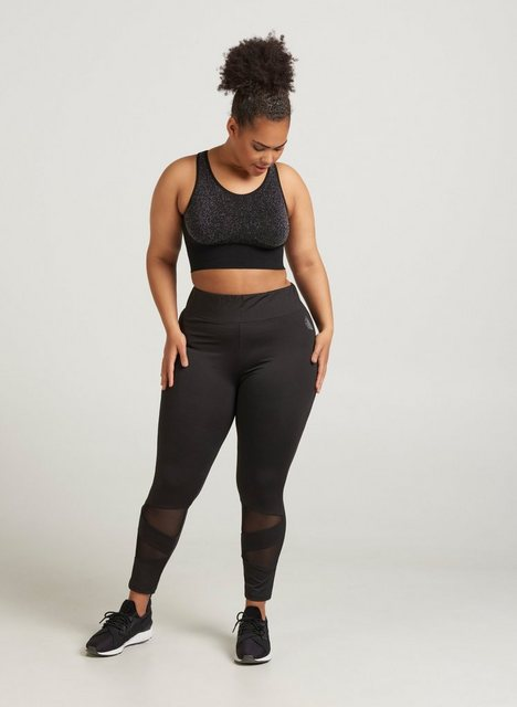 Hosen - Active by ZIZZI Trainingstights Große Größen Mesh Stretch Gummizug ind er Taille ›  - Onlineshop OTTO