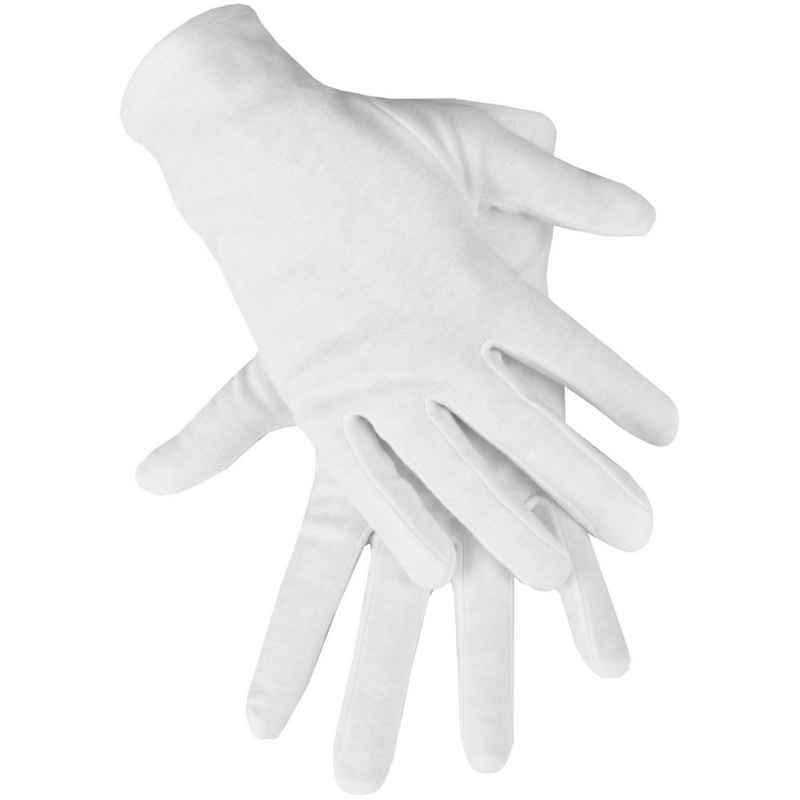 Bestlivings Baumwollhandschuhe Baumwollhandschuhe 10er Set, weiche Schutzhandschuhe aus Stoff, Textilhandschuhe Stoffhandschuhe in weiß, versch. Größen