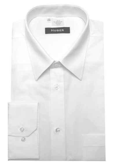 Huber Hemden Langarmhemd »HU-0068« feiner Stoff, 100% Bio-Baumwolle, Kentkragen, Regular Fit - bequeme Form, Made in EU