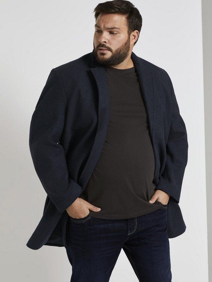 tom tailor men plus -  Plüschjacke »Klassischer Wollmantel«