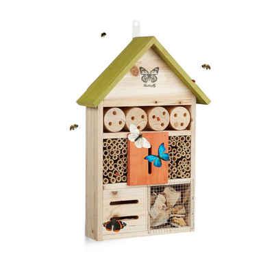relaxdays Insektenhotel »Insektenhotel Butterfly bunt«