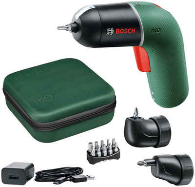 BOSCH Akku-Schrauber »IXO 6 Set«, 215 U/min, 4,5 Nm, (Set), Volle Kontrolle für sorgloses Arbeiten