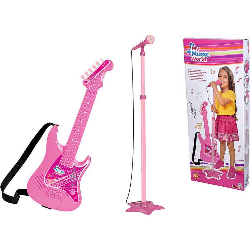 SIMBA Saiten »My Music World Girls Gitarre mit Standmikrofon«