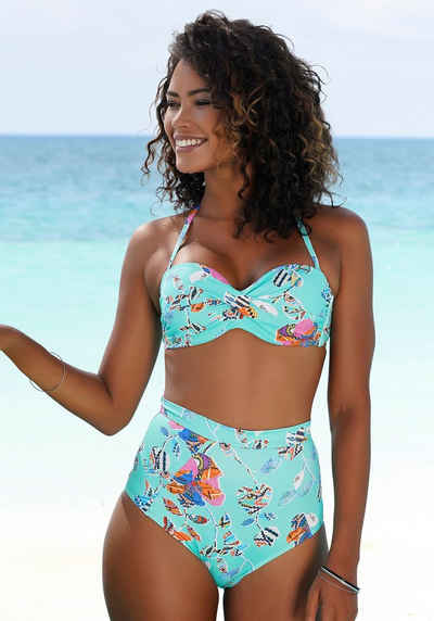 Sunseeker Highwaist-Bikini-Hose »Jam«, mit Alloverprint