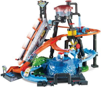 Hot Wheels Spiel-Gebäude »City Ultimative Autowaschanlage«, mit Color-Shifters Fahrzeug