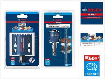 Bosch Professional Lochsäge »Bosch EXPERT Tough Material Lochsägen Starter Set 64 x 60 mm Carbide (2608900430) Universal + Power Change Adapter (2608900526)«