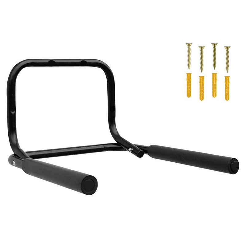 Wellgro Fahrradhalter »Wand Fahrradhalter - Stahl, schwarz, klappbar, Tragkraft bis 50 kg, Fahrrad - Fahrradständer - Halter - weiche Schaumstoffpolsterung«
