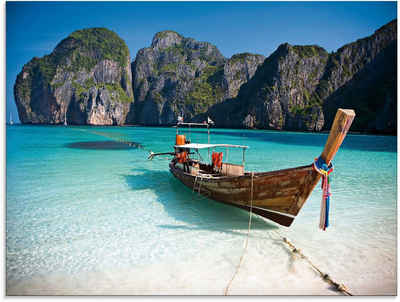 Artland Glasbild »Maya Bay, Koh Phi Phi Leh, Thailand«, Boote & Schiffe (1 Stück)