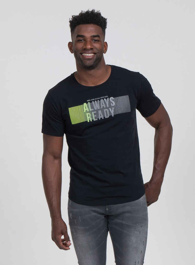 Key Largo T-Shirt mit stylischem Front-Print