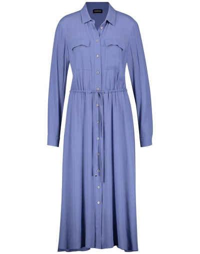Taifun Minikleid »Langes Hemdblusenkleid mit tailliertem Schnitt« Classic Fit