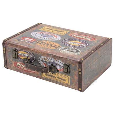 HMF Aufbewahrungsbox »Vintage Koffer«, aus Holz, Deko Garage, 38 x 26 x 13 cm