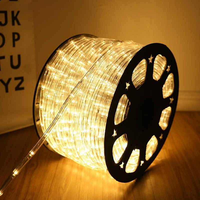 Einfeben LED-Lichterkette »20M lichtschlauch Beleuchtung Warmweiß Party Garten Außen Deko Weihnachtsdeko«