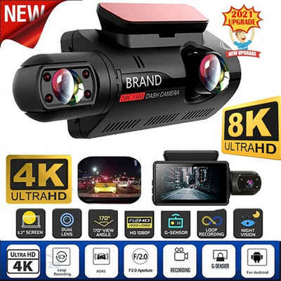 autolock »Neuer versteckter Auto-Recorder 3-Zoll-IPS-Bildschirm A68 Front-HD und rückwärtige Nachtsicht-Dual-Aufnahme ohne Licht Mit 32G-Speicherkarte« 360°-Kamera