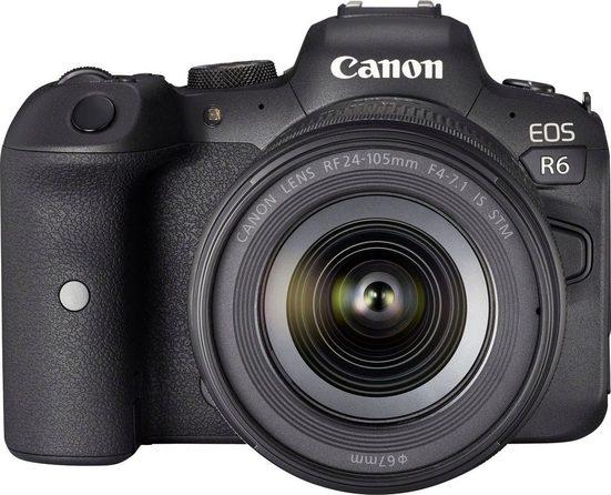 Canon »EOS R6 Gehäuse + RF 24-105mm F4-7.1 IS STM« Systemkamera (RF 24-105mm F4-7.1 IS STM, 20,1 MP, Bluetooth, WLAN (WiFi)
