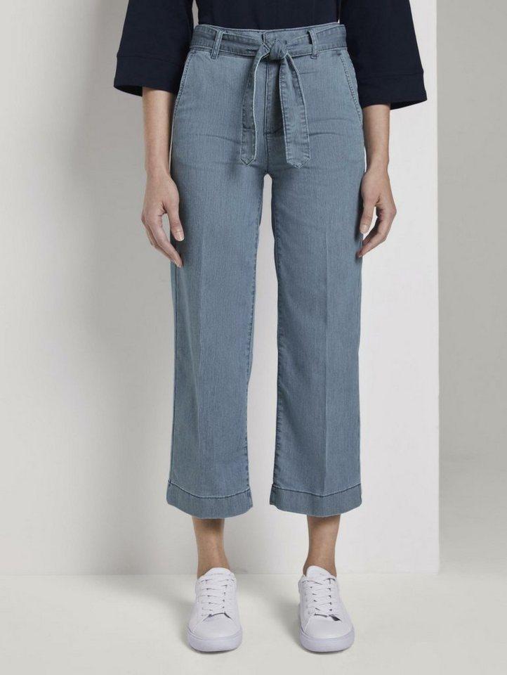 tom tailor -  7/8-Jeans »Culotte mit Bügelfalte«