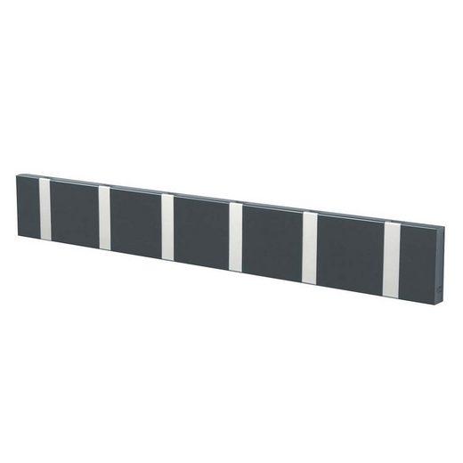 LoCa Garderobe »LoCa Garderobe Knax 6 anthrazit (Haken klappbar Alu)«