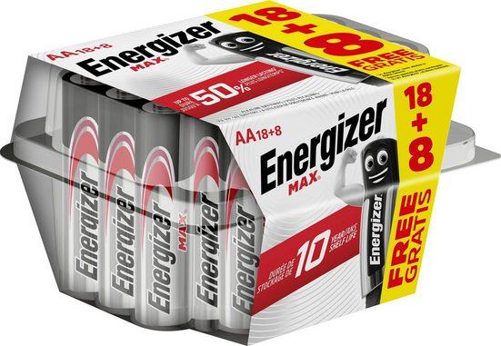 Energizer »MAX™ AA 18+8 gratis Box« Batterie, LR06
