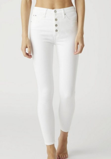 Hosen - Calvin Klein Jeans Skinny fit Jeans »High Rise Super Skinny Ankle« mit Button Fly Verschluss Calvin Klein Jeans Logo Badge ›  - Onlineshop OTTO