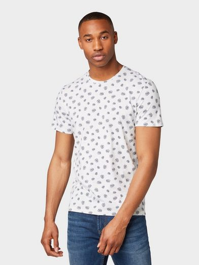 TOM TAILOR T-Shirt »T-Shirt mit Allover-Print«
