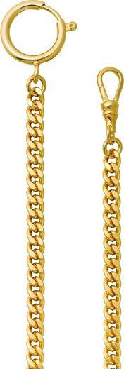 Regent Taschenuhr »URP044 Regent 5mm Taschenuhren-Kette P-44«, Herren Taschenuhrkette, Edelstahl goldfarben, Elegant