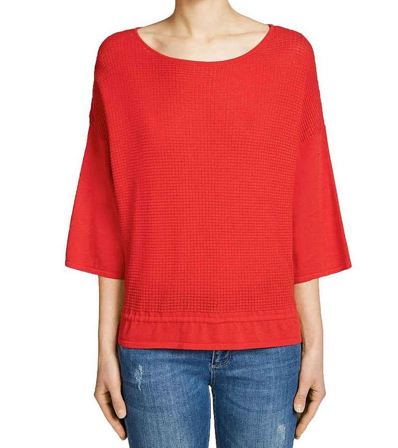 Oui Blusentop »OUI Bluse Schlupf-Bluse wunderschönes Damen Kurzarm-Shirt Sommer-Shirt Rot«