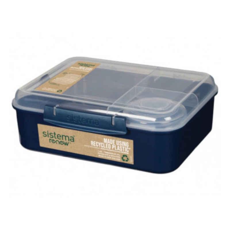 sistema Lunchbox »Bento Lunchbox To Go, unterteilt, RENEW - Farbwahl«, Kunststoff lebensmittelsicher