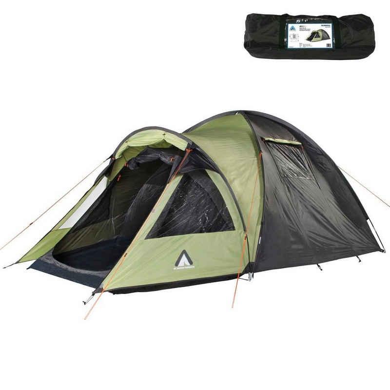10T Outdoor Equipment Kuppelzelt »10T Zelt Glenhill Beechnut 3 Mann Kuppelzelt FULL-XXL Schlafkabine wasserdichtes 5000mm Campingzelt«, Personen: 3