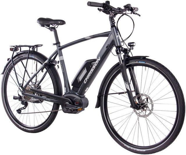 CHRISSON E-Bike Trekking Herren »E-ACTOURUS Gent«, 10 Gang, Shimano DEORE, Rahmenakku, 250 W*