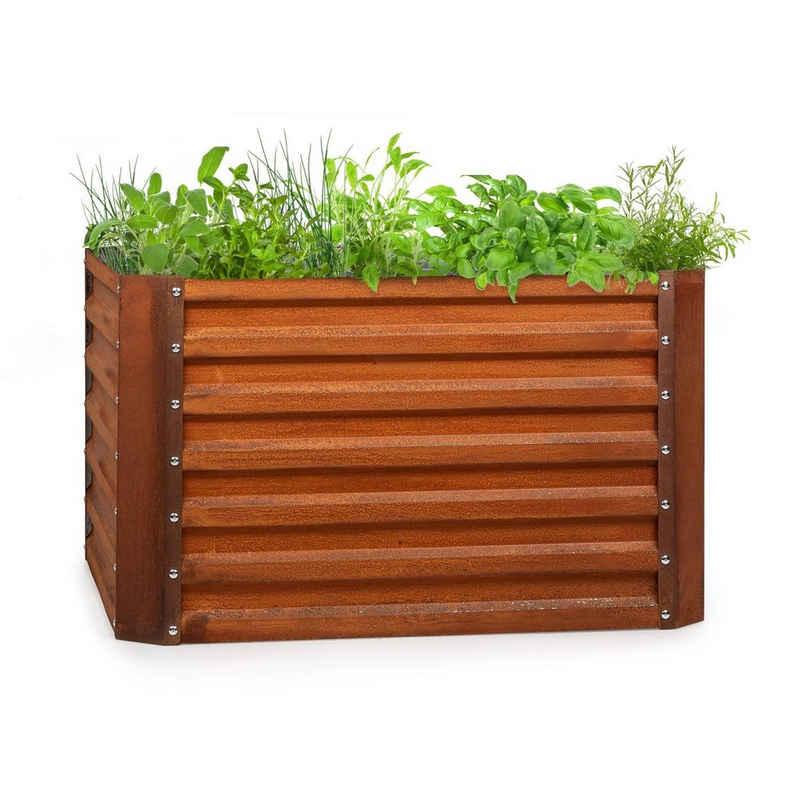 blumfeldt Hochbeet »Rust Grow Hochbeet Gartenbeet verzinktes Stahlblech Rost-Finish«