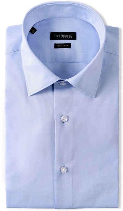 Roy Robson Businesshemd CHAMBRAY zweifarbige Optik