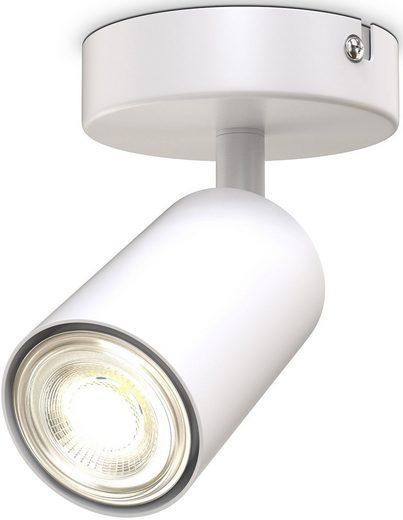 B.K.Licht Deckenspot, 1-flammige Spotlampe, schwenkbar, drehbar, GU10, Schwarz, ohne Leuchtmittel
