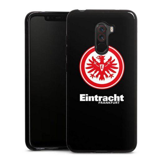 DeinDesign Handyhülle »Eintracht Frankfurt schwarz« Xiaomi Pocophone F1, Hülle Eintracht Frankfurt SGE Adler