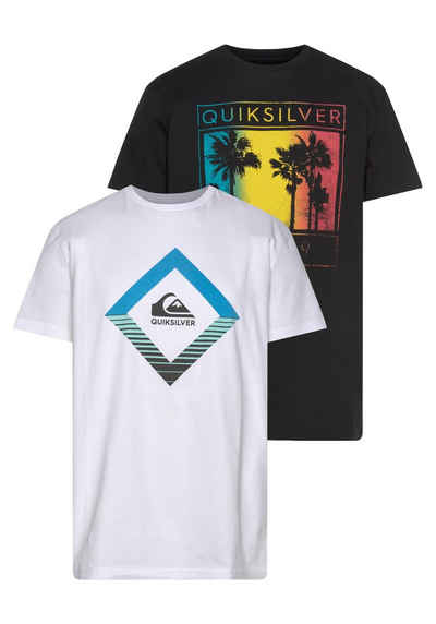 Quiksilver T-Shirt »XKKW PALM MIRAGE SS TEE PACK« (Packung, 2er-Pack)