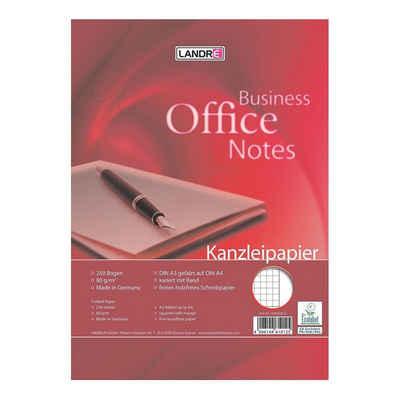 LANDRE Briefpapier »Office«, Kanzleipapier, Format DIN A3 auf A4, kariert mit Rand, ungelocht