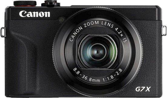 Canon »PowerShot G7 X Mark III« Kompaktkamera (8,8 – 36,8mm (quivalent zu KB-Vollformat: 24 – 100mm), 20,1 MP, 4,2x opt. Zoom, WLAN (WiFi), Bluetooth, inkl. Handgriff mit Stativfunktion und Bluetooth-Fernbedienung (HG-100TBR) & 64GB SD-Card)