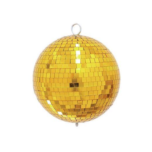 SATISFIRE Discolicht »Spiegelkugel 20cm - gold - Diskokugel Echtglas - 10x10mm Spiegel - PROFI Serie«