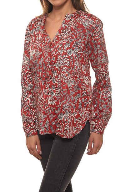 Part Two Schlupfbluse »PART TWO Shirt Bluse niedliche Damen Schlupf-Bluse mit Allovermuster Langarm-Bluse Rot gemustert«
