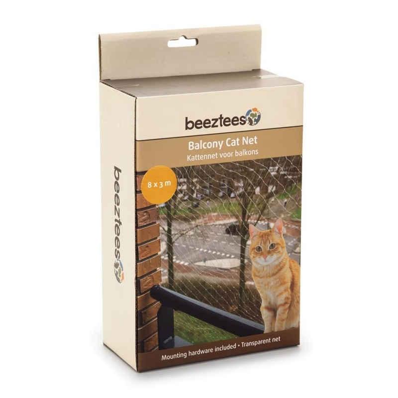 Beeztees Schutznetz »Beeztees Katzenschutznetz für Balkone Transparent 8x3 m 41084«