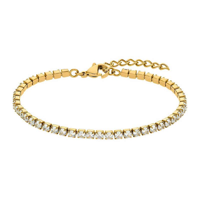 Heideman Armband »Plura«, Tennisarmband mit Stein weiß Gliederarmband