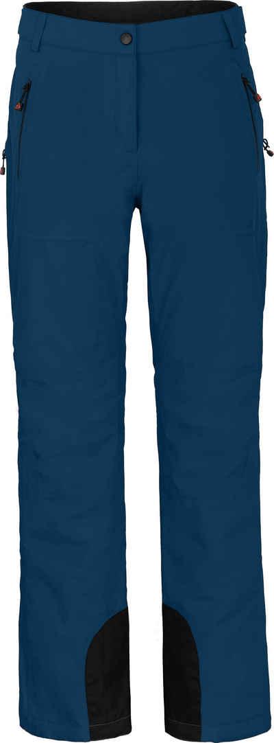Bergson Skihose »ICE« wattierte Damen Skihose mit 20.000er Wassersäule, Normalgrößen, poseidon blau