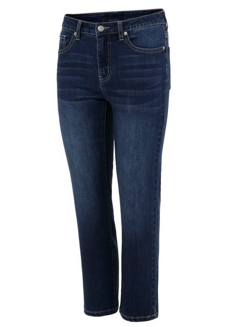 Hosen - Aniston SELECTED Straight Jeans in verkürzter cropped Länge NEUE KOLLEKTION › blau  - Onlineshop OTTO