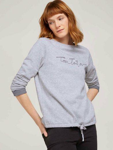 TOM TAILOR Longsweatshirt »Sweatshirt mit Bio-Baumwolle und Logoprint«