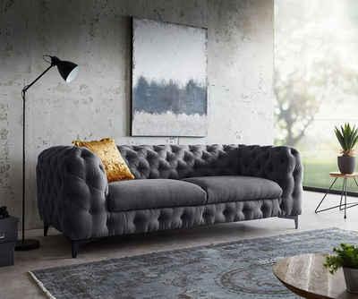 DELIFE 3-Sitzer »Corleone«, Graphite 225x97 cm 3-Sitzer Couch