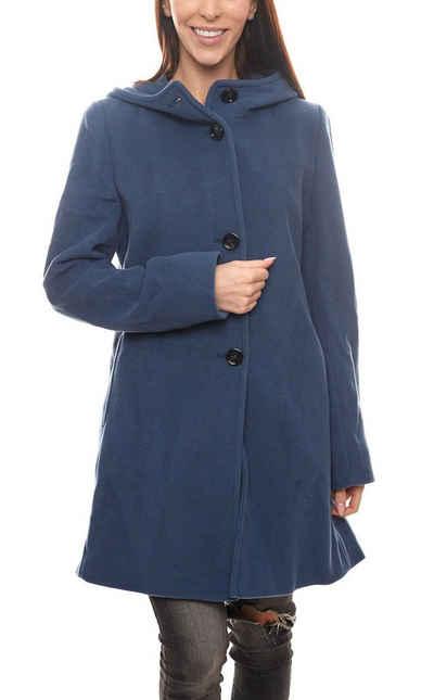 Gil Bret Wintermantel »GIL BRET Woll-Mantel schöner Damen Herbst-Mantel Winter-Mantel mit Kaschmir-Anteil Dark Denim«