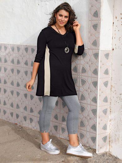 MIAMODA Longshirt mit streckendem V-Ausschnitt