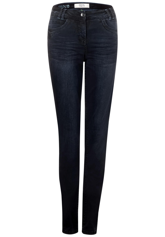 Cecil Slim-fit-jeans 5-pockets Style, Dunkelblaue Waschung Online Kaufen
